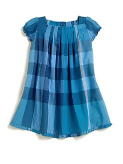 Burberry - Toddler Girl's Pleated Check Dress