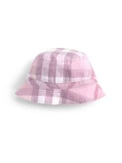 Burberry - Infant's Reversible Check Bucket Hat