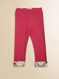 Burberry - Toddler Girl's Check-Trimmed Leggings