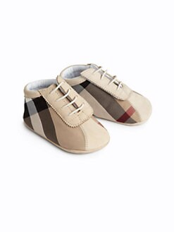Burberry - Infant's Check Crib Shoes