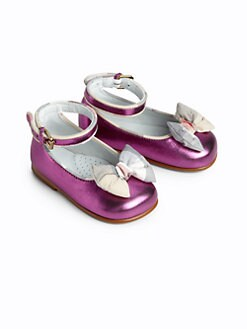 Burberry - Infant's Sophie Metallic Ballet Flats