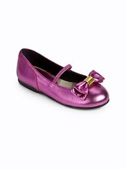 Burberry - Infant's & Toddler's Sophie Metallic Ballet Flats