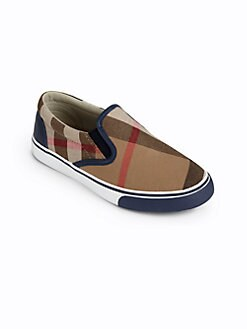 Burberry - Kid's Check Slip-On Sneakers
