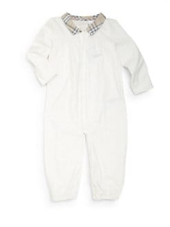 Burberry - Infant's Check Collar Coverall