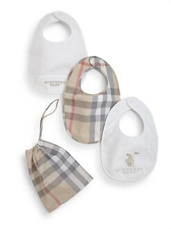 Burberry - Infant's Three-Piece Bib Set