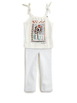 Burberry - Toddler Girl's Floral Tank Top