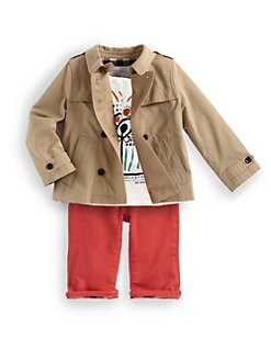 Burberry - Infant's Double-Breasted Swing Raincoat