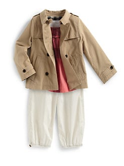 Burberry - Toddler Girl's Swing Double-Breasted Raincoat