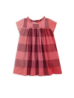 Burberry - Infant's Check Voile Dress