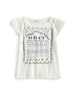 Burberry - Little Girl's Brit Logo Tee