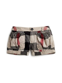 Burberry - Little Girl's Voile Check Shorts