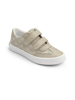 Burberry - Boy's Tonal Check Sneakers