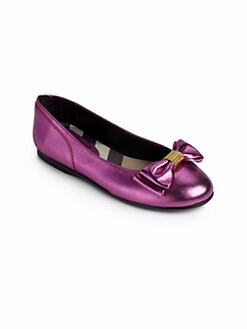Burberry - Todder's & Girl's Leila Metallic Ballet Flats