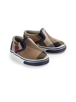 Burberry - Infant's & Toddler's Check Slip-On Sneakers