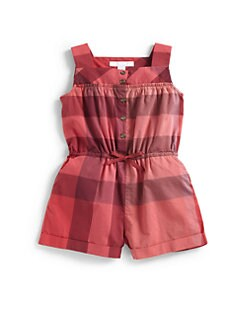 Burberry - Toddler Girl's Cotton Check Romper
