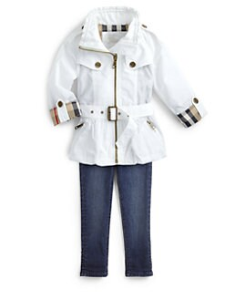 Burberry - Girl's Nylon Trenchcoat