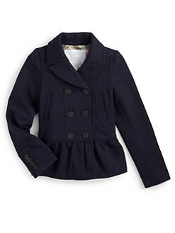 Burberry - Girl's Peplum Jacket