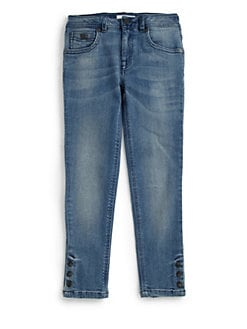 Burberry - Girl's Snap Jeans