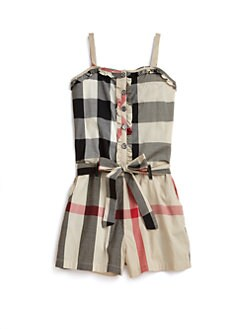 Burberry - Girl's Check Romper