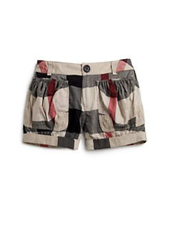 Burberry - Girl's Voile Check Shorts