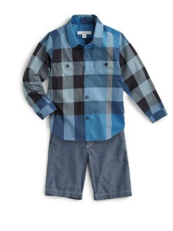 Burberry - Boy's Check Twill Shirt