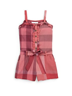 Burberry - Little Girl's Check Romper