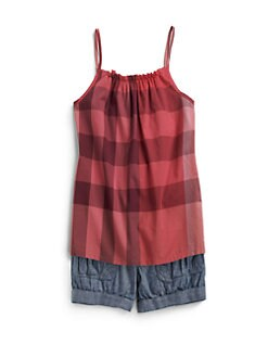 Burberry - Little Girl's Check Tank Top