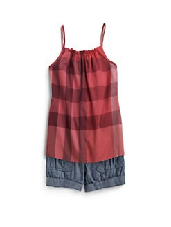 Burberry - Girl's Check Tank Top