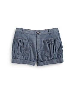 Burberry - Girl's Chambray Shorts