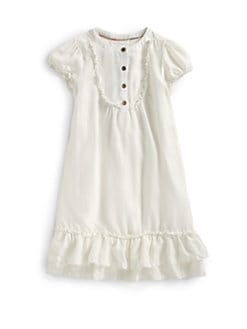 Burberry - Girl's Washed Silk Dress