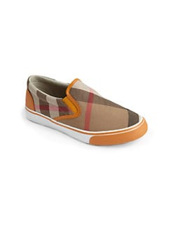Burberry - Boy's Check Slip-On Sneakers