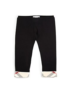 Burberry - Infant's Check-Trimmed Leggings