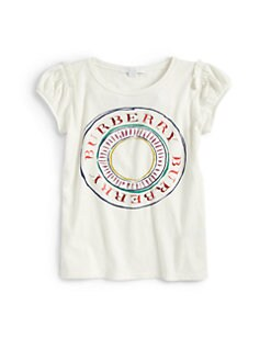 Burberry - Little Girl's Circle Logo Tee