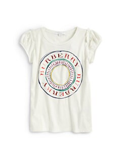 Burberry - Girl's Circle Logo Tee