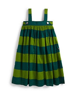 Burberry - Girl's Stripe Trapeze Dress
