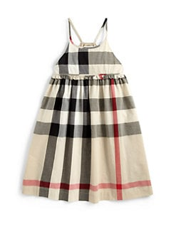 Burberry - Girl's Voile Check Dress