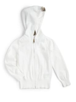 Burberry - Girl's Check-Trimmed Hoodie