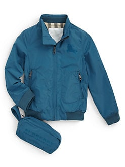 Burberry - Boy's Packable Nylon Windbreaker