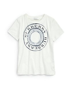 Burberry - Boy's Cotton Logo Tee
