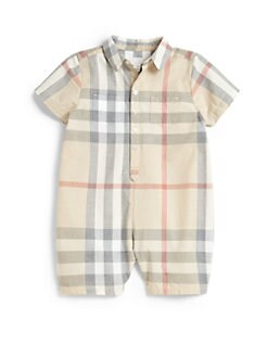 Burberry - Infant's Pale Check Shortall