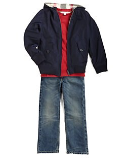 Burberry - Boy's Packable Reversible Hooded Jacket