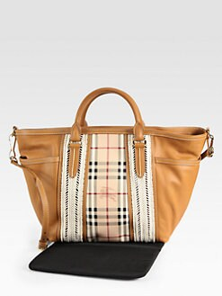 Burberry - Haymarket Herringbone Baby Bag
