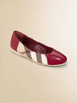 Burberry - Girl's Check Ballerina Flats