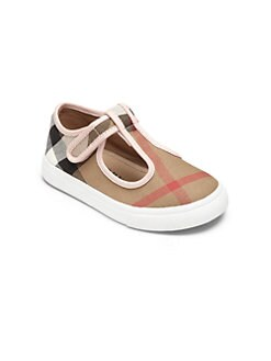 Burberry - Toddler's Check T-Strap Shoes