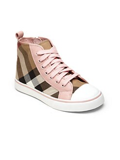 Burberry - Little Girl's & Girl's Check High-Top Sneakers