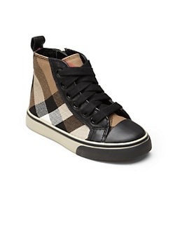 Burberry - Infant's, Toddler's & Little Boy's Check High-Top Sneakers