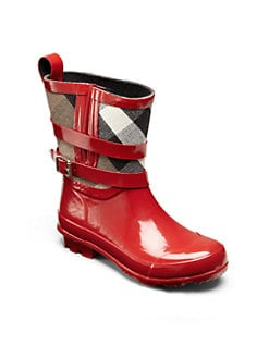 Burberry - Little Girl's & Girl's Check Rainboots