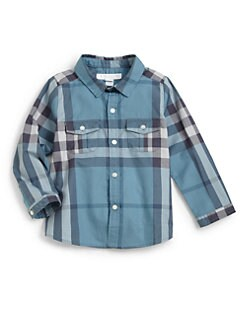 Burberry - Infant's Woven Check Shirt
