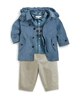 Burberry - Infant's Nylon Hooded Rain Jacket