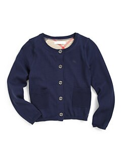 Burberry - Little Girl's Cotton Cardigan